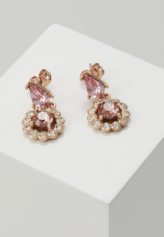 DAISY DROP EARRING - Earrings - rose gold-coloured/pink