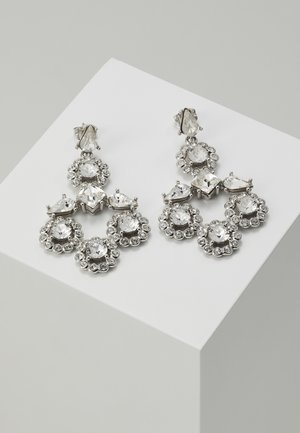 DAISY LARGE DROP EARRING - Kolczyki - silver-coloured