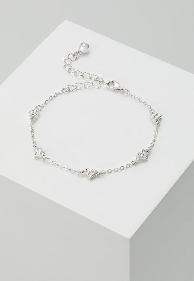NELEAHA NANO HEART CHARM BRACELET - Armbånd - silver