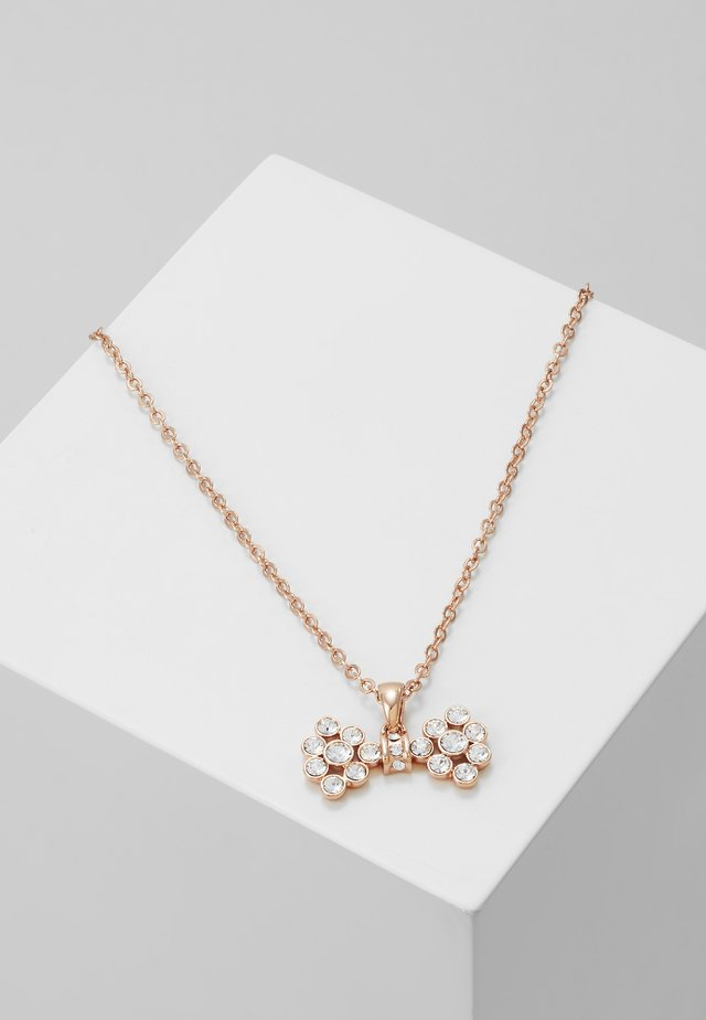SMALL BOW PENDANT - Ketting - rose gold-coloured