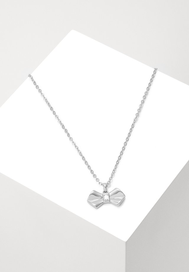 SARAHLI SOLITAIRE BOW PENDANT - Ketting - silver-coloured