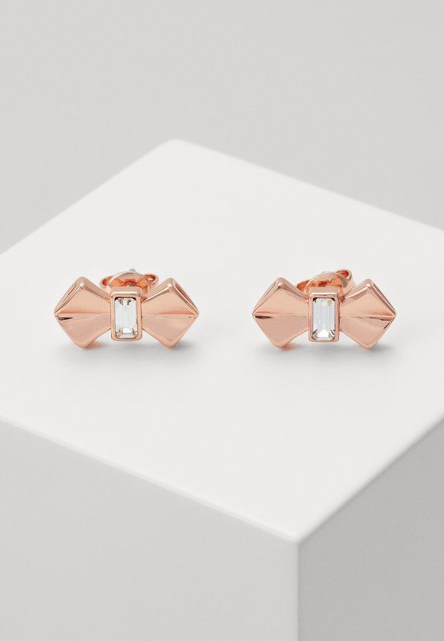 SUSLI BOW STUD EARRING - Oorbellen - rose gold-coloured