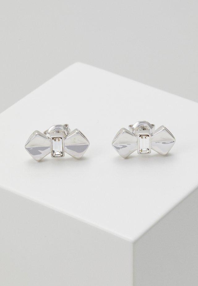 SUSLI BOW STUD EARRING - Oorbellen - silver-coloured
