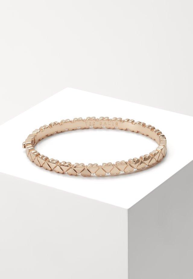 CLEMISA HINGE HEART BANGLE - Bracelet - rose gold-coloured