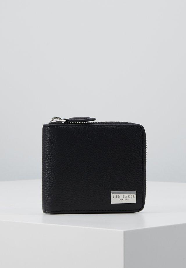 ZIP AROUND COIN WALLET - Lompakko - black
