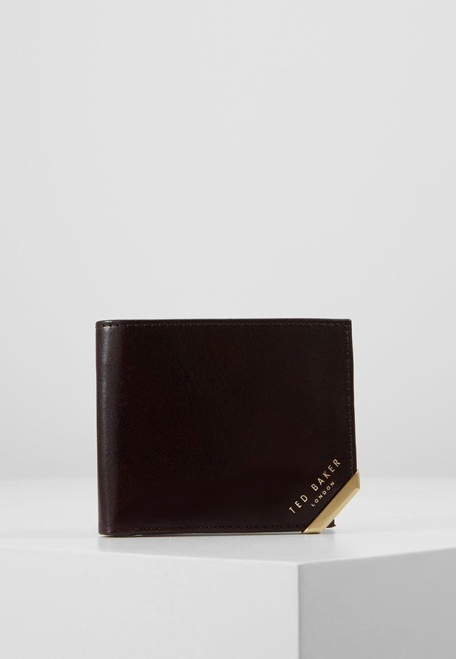 CORNER BIFOLDCOIN WALLET - Plånbok - chocolate