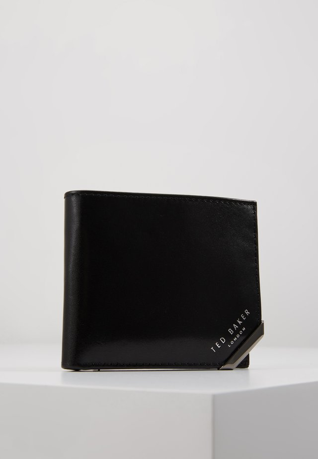 CORNER BIFOLDCOIN WALLET - Plånbok - black