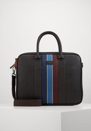 DEALS WEBBING DOCUMENT BAG - Briefcase - brown choc