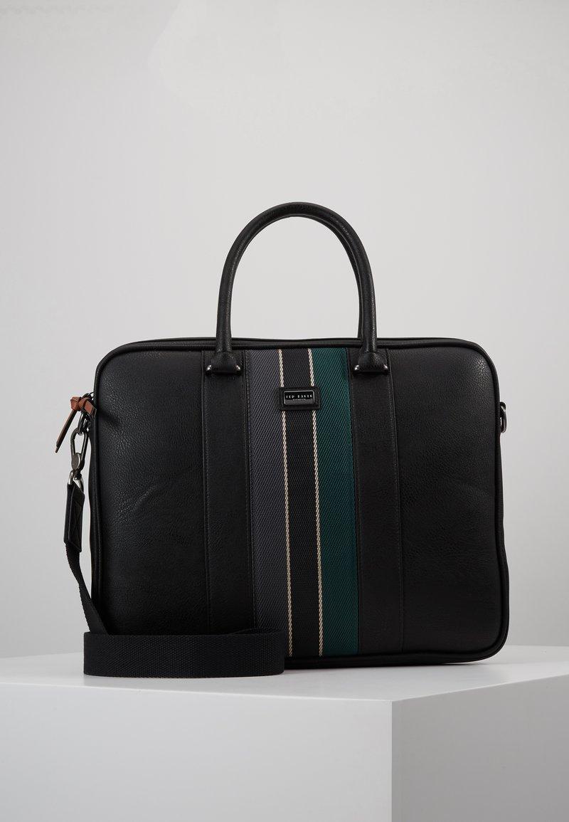 Ted Baker - DEALS WEBBING DOCUMENT BAG - Briefcase - black