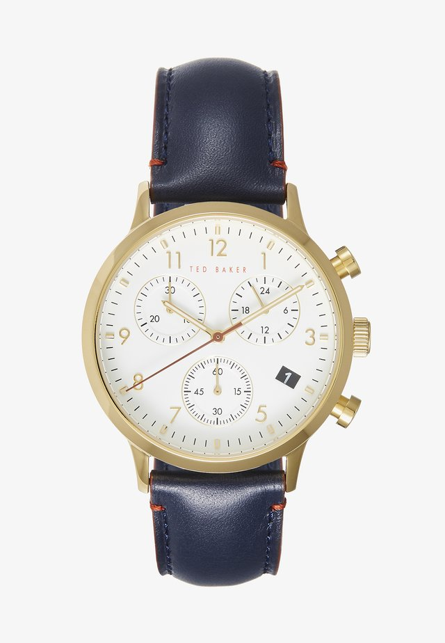 COSMOP - Chronograph watch - blue/gold-coloured/white