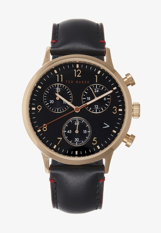 COSMOP - Chronograph watch - black/gold/black