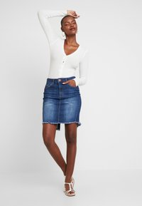 One Teaspoon - PENCIL SKIRT - Denim skirt - cool blue - 1