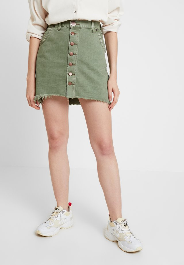 VIPER HIGH WAIST SKIRT - Jeansskjørt - super khaki