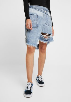 OFF THE CHAIN SKIRT - Jeansskjørt - sunbleach blue
