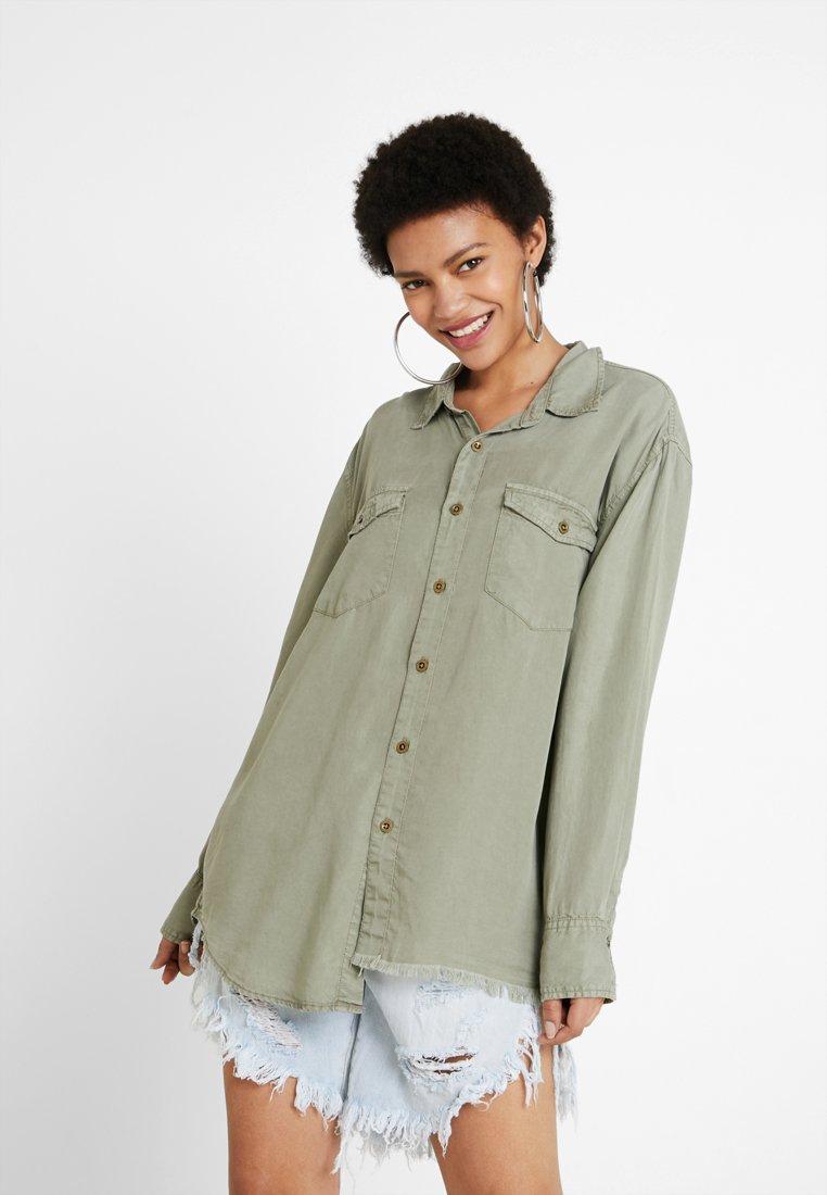 One Teaspoon - SAFARI LIBERTY - Button-down blouse - washed khaki