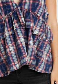 One Teaspoon - VINTAGE CHECK ROMY - Top - blue - 5