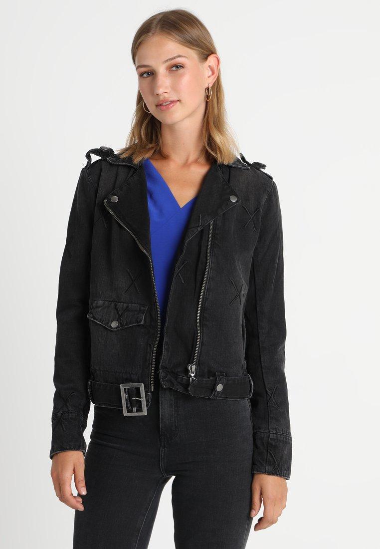 One Teaspoon - MOTO - Džínová bunda - black denim