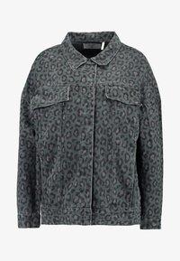 One Teaspoon - LEOPARD NIGHT CRAWLER TRUCKER JACKET - Denim jacket - olive/brown - 4