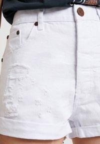 One Teaspoon - OUTLAWS - Denim shorts - white beauty - 3