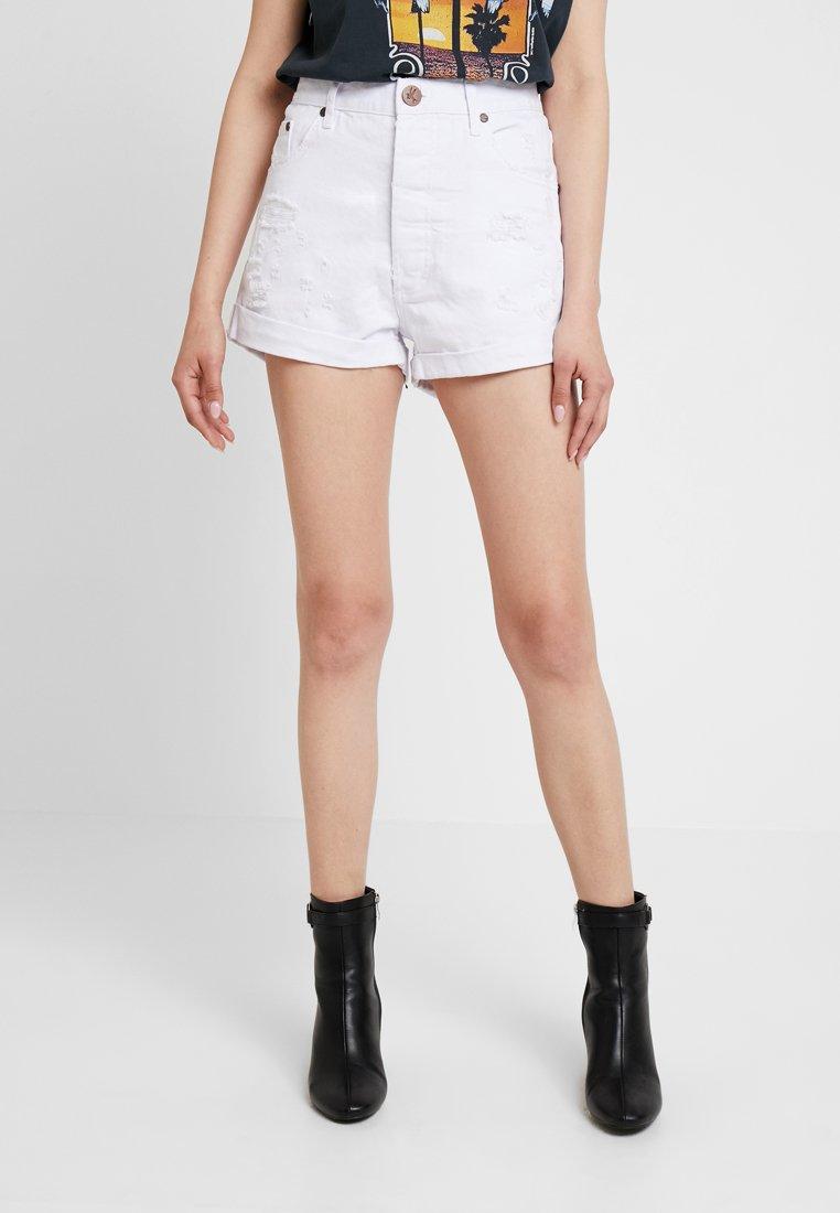 One Teaspoon - OUTLAWS - Denim shorts - white beauty