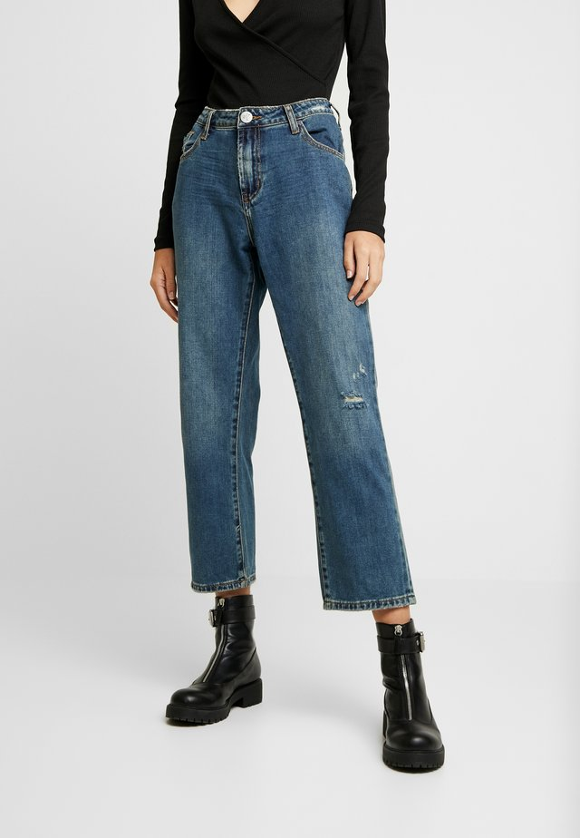 TRUCKERS MID RISE - Jeans straight leg - dirty indigo