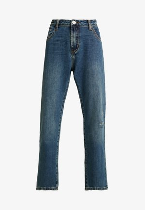 TRUCKERS MID RISE - Džíny Straight Fit - dirty indigo