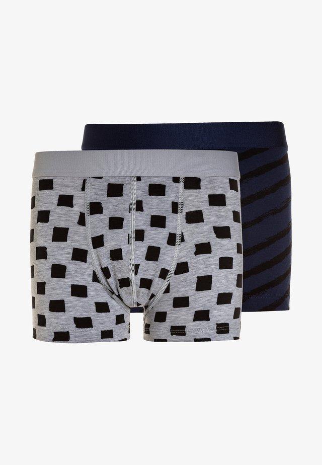 BOYS SHORT 2 PACK - Underkläder - light grey melee/deep blue