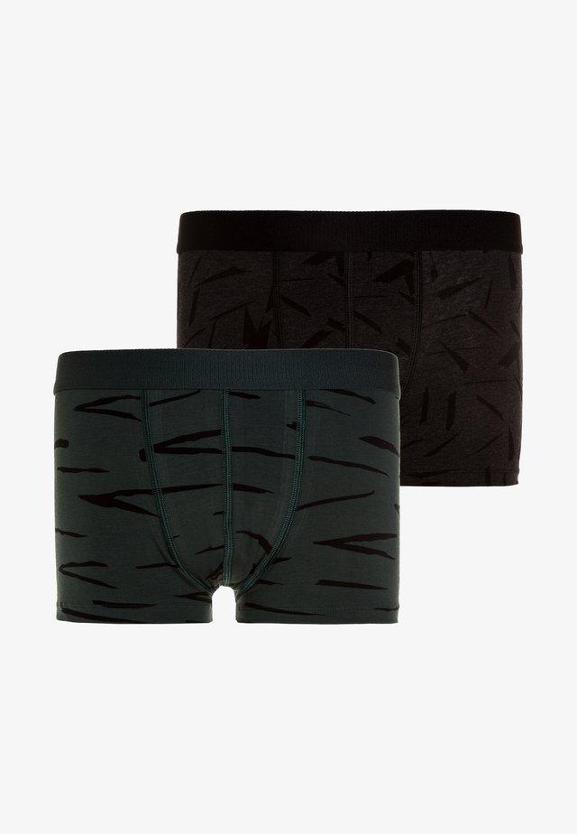 BOYS SHORT 2 PACK - Underkläder - black melee/dark green