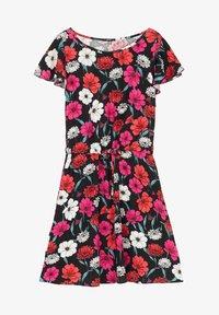 Tezenis - MIT VOLANTÄRMEL - Day dress - nero st.blossom pink - 4