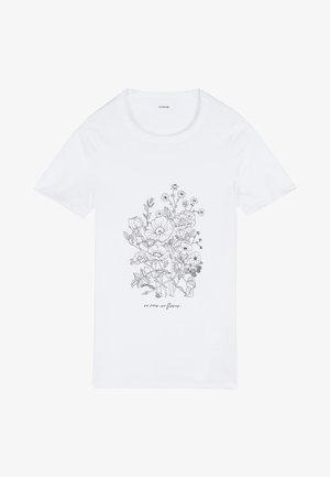 Print T-shirt - bianco st.bouquet