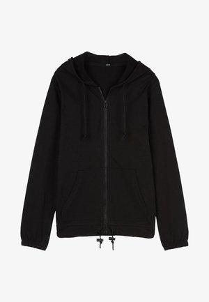 MIT REISSVERSCHLUSS UND TUNNELZUG - Zip-up hoodie - nero