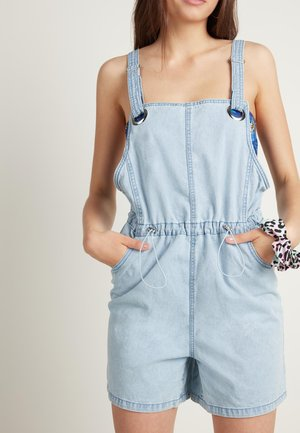 MIT TUNNELZUG - Dungarees - light jeans
