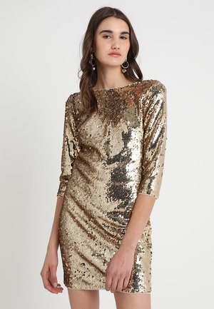 PARIS V BACK DRESS - Cocktailklänning - gold