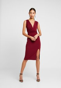 TFNC - MULTI WAY MIDI BODYCON - Juhlamekko - burgundy - 2