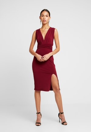 MULTI WAY MIDI BODYCON - Sukienka koktajlowa - burgundy