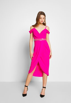 WILLOW MIDI DRESS - Vestido de fiesta - fuschia