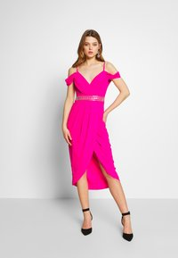 TFNC - WILLOW MIDI DRESS - Galajurk - fuschia - 1