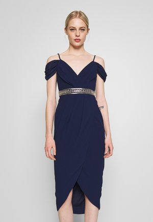 WILLOW MIDI DRESS - Vestido de fiesta - navy