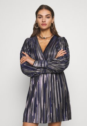 ZOULA DRESS - Cocktailjurk - navy/gold