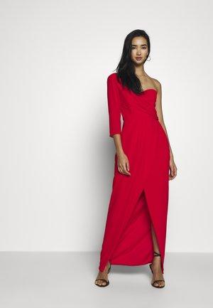 HESPER MAXI WRAP - Vestido de fiesta - firy red