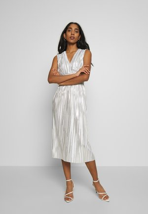 SELLA MIDI DRESS - Cocktailjurk - light blue/gold
