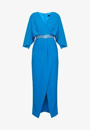 LENNIS MAXI WRAP DRESS - Galajurk - blue
