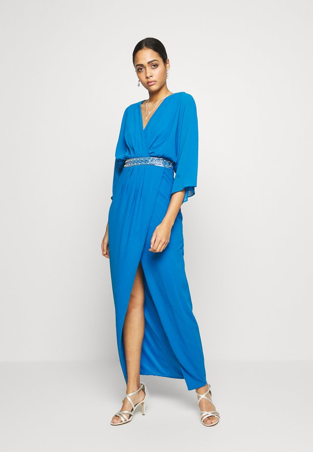 LENNIS MAXI WRAP DRESS - Iltapuku - blue