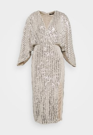 RAVEN MIDI - Cocktail dress / Party dress - silver/nude