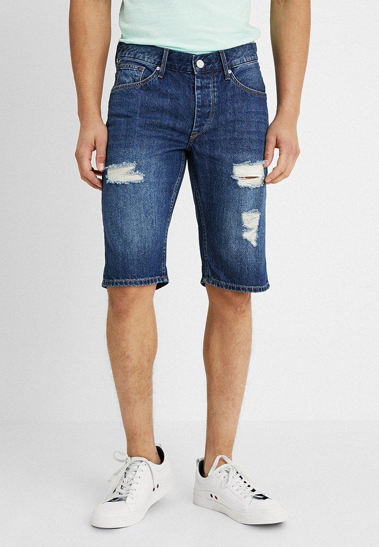 Tiffosi - MUSTON - Denim shorts - dark blue denim