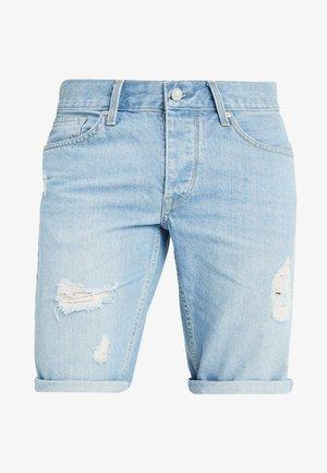 MUSTON - Denim shorts - light blue denim