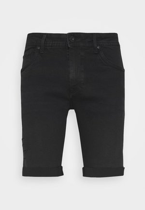 LUJAN - Jeans Shorts - black