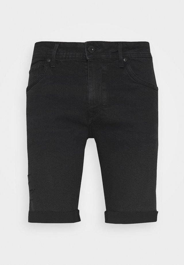 LUJAN - Jeans Short / cowboy shorts - black