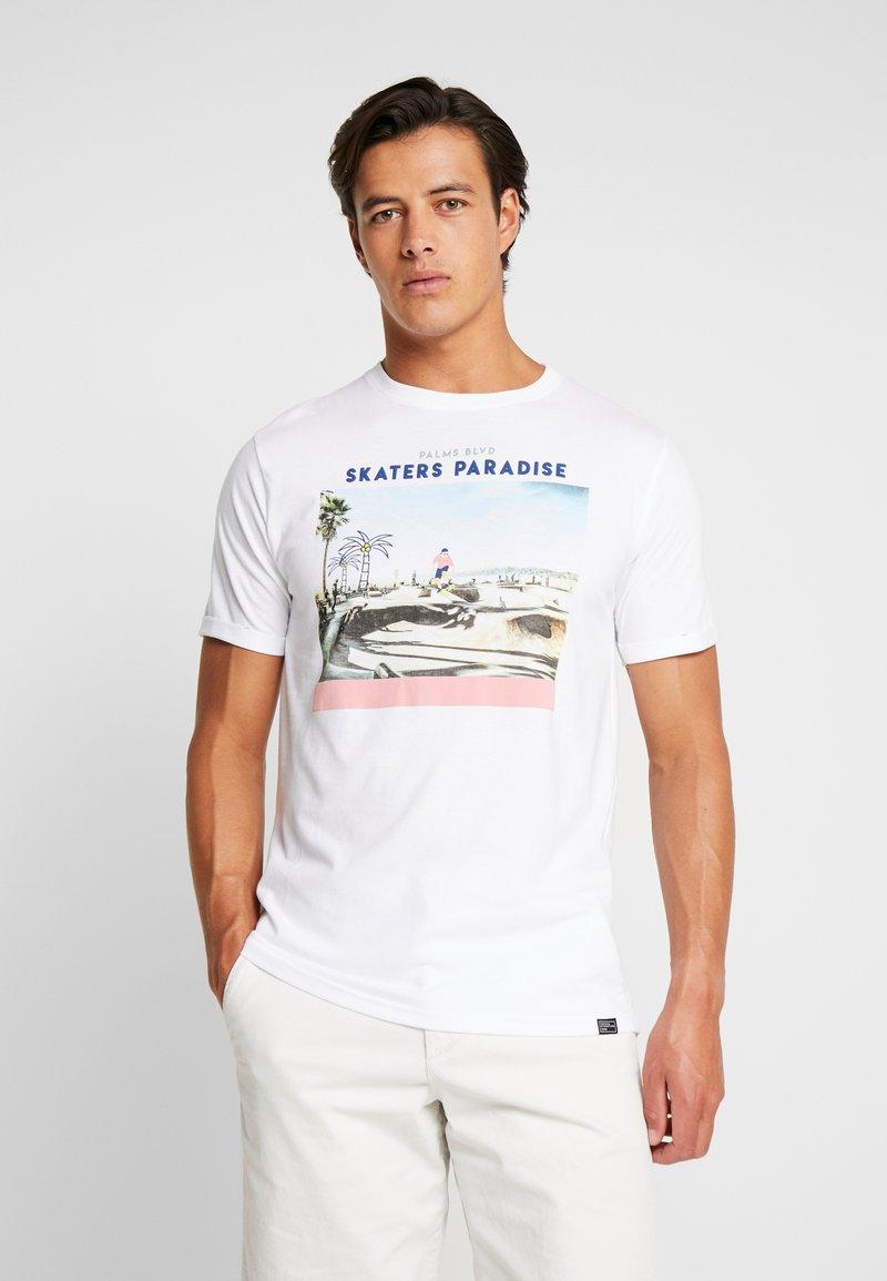 Tiffosi - PERU - Print T-shirt - white