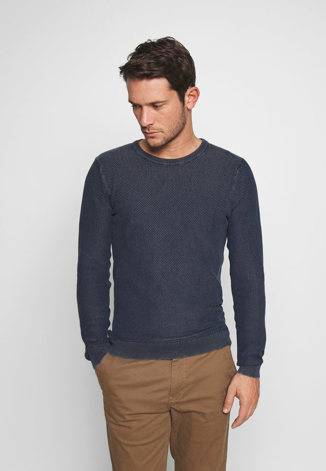 WALLACE - Pullover - dark navy
